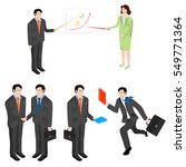 set of business people in... | Shutterstock .eps vector #549771364