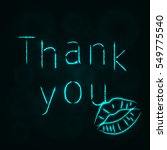 thank you illustration icon ... | Shutterstock .eps vector #549775540