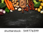 healthy food background.... | Shutterstock . vector #549776599