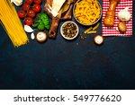 italian food or ingredients... | Shutterstock . vector #549776620
