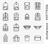 travel bag and backpack minimal ... | Shutterstock .eps vector #549779206
