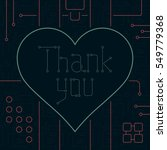thank you day greeting card.... | Shutterstock .eps vector #549779368