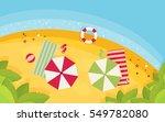 beach flat design background | Shutterstock .eps vector #549782080