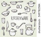 cooking typography set.... | Shutterstock .eps vector #549782584