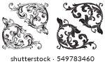 baroque set of vintage elements ... | Shutterstock .eps vector #549783460
