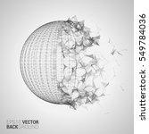 triangle sphere vector... | Shutterstock .eps vector #549784036