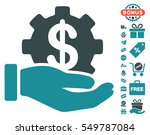 financial development gear hand ... | Shutterstock .eps vector #549787084