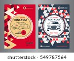 rent a car business flyer... | Shutterstock .eps vector #549787564