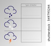 types of weather suitable for... | Shutterstock .eps vector #549795244