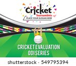 colorful cricket tournament... | Shutterstock .eps vector #549795394