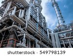 close up industrial view at oil ... | Shutterstock . vector #549798139