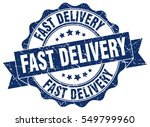 fast delivery. stamp. sticker.... | Shutterstock .eps vector #549799960
