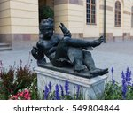 statue of a boy with a goose in ... | Shutterstock . vector #549804844