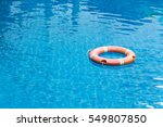 lifebuoy floating in swimming...   Shutterstock . vector #549807850