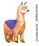 llama or alpaca hand drawn...   Shutterstock . vector #549819454
