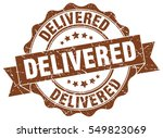 delivered. stamp. sticker. seal.... | Shutterstock .eps vector #549823069
