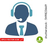 support manager eps vector icon.... | Shutterstock .eps vector #549823669