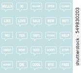 speech bubbles set.   Shutterstock .eps vector #549830203