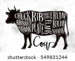 poster beef cutting scheme... | Shutterstock .eps vector #549831244