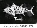 poster tuna cutting scheme... | Shutterstock .eps vector #549831274