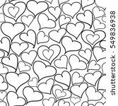vector hand drawn doodle hearts ... | Shutterstock .eps vector #549836938