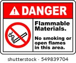 danger sign flammable materials ... | Shutterstock .eps vector #549839704