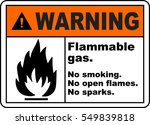 warning sign flammable gas no... | Shutterstock .eps vector #549839818