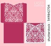 laser cut wedding invitation... | Shutterstock .eps vector #549842704