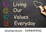 conceptual love acronym... | Shutterstock . vector #549849940