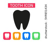 tooth icon isolated on...