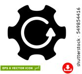rotate gear eps vector icon.... | Shutterstock .eps vector #549854416