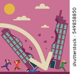 corporate building getting... | Shutterstock .eps vector #549858850