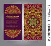 tribal mandala design set.... | Shutterstock .eps vector #549861748