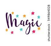 magic. stars. bright multi...   Shutterstock .eps vector #549864028