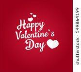 happy valentine s day | Shutterstock .eps vector #549864199