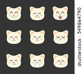 smiley set of cat cartoon.... | Shutterstock .eps vector #549864790