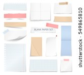 blank school notebook page... | Shutterstock .eps vector #549865810