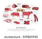 meat market product variety... | Shutterstock .eps vector #549865930