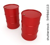 3d rendering red barrels  3d... | Shutterstock . vector #549866113
