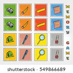 memory game   school stuff ... | Shutterstock .eps vector #549866689