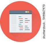 script vector icon  | Shutterstock .eps vector #549867970