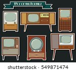 vector retro tvs of the forties ... | Shutterstock .eps vector #549871474