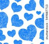 blue hearts seamless... | Shutterstock .eps vector #549887713