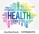 health word cloud collage ... | Shutterstock .eps vector #549888490