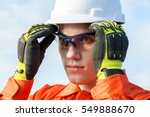 young engineer is wearing... | Shutterstock . vector #549888670