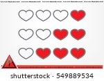 heart background | Shutterstock .eps vector #549889534
