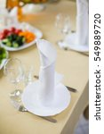 decorated banquet wedding table ... | Shutterstock . vector #549889720