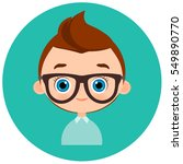 faces avatar in circle.... | Shutterstock .eps vector #549890770
