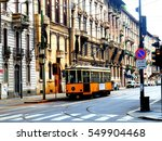 central street  in milan | Shutterstock . vector #549904468