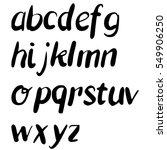 hand drawn alphabet. brush... | Shutterstock . vector #549906250